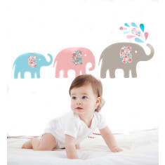Baby elephants wall decal