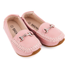 Classic leather loafers in pink