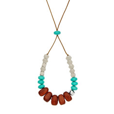 Wooden wonders necklace (various colours)
