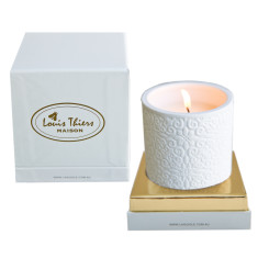 Laguiole Maison Louis Thiers aromatic candle in ceramic holder