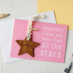 Personalised Mummy Star Keepsake Card