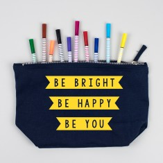 Make Up Bag/Travel accessories Case - Be Bright, Be Happy, Be You