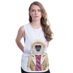 gibbon monkey women's tank