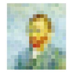 IXXI van gogh pixel wall art