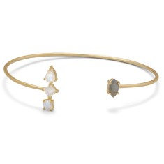 Labradorite & Moonstone Bangle