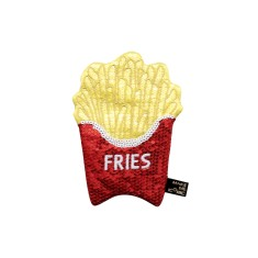 iconic fries sequin purse