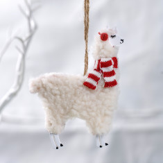 Wooly Llama Christmas Decoration