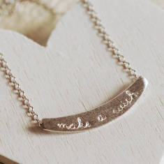 Sterling Silver Make A Wish Necklace