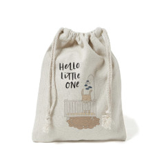 Hello little one canvas gift bag