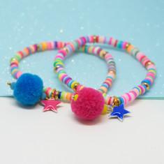Pompom star bracelets
