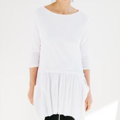 Drop Waist Tunic in White