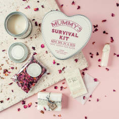 Personalised 'Mini Spa In A Box' Deluxe Survival Kit