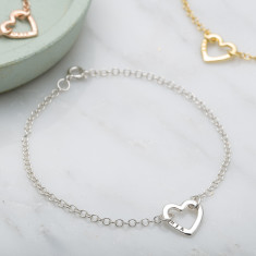 Personalised Mini Heart Bracelet