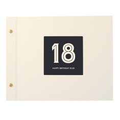 Personalised Typographic Birthday Age Photo Album