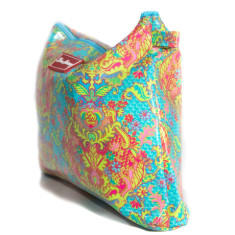 Large cosmetic, clutch or nappy bag in Indian Summer print