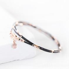 Personalised Ladies' Rose Gold Morse Code Bracelet