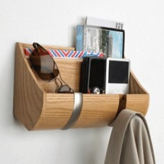 Umbra cubby wall mounted mail & key organiser with hooks