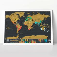Large Scratch World Map - Deluxe Edition