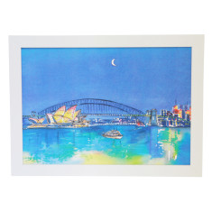 Sydney Harbour watercolour art print