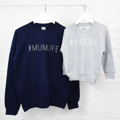 Mum And Me Hashtag Sweatshirt Jumper Set