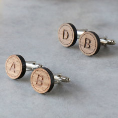 Initial wedding party cufflinks (sets of 4 or more)