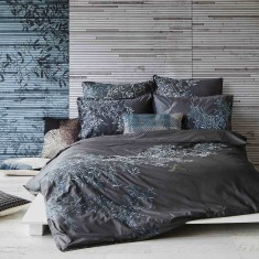 Pascale charcoal quilt cover set