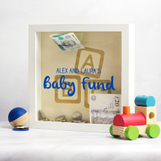 Personalised Baby Fund Money Box Frame