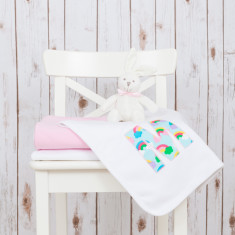 Personalised Rainbow Baby Blanket