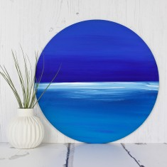 Circular Painting 'Seascape'