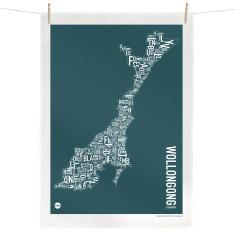 Wollongong tea towel
