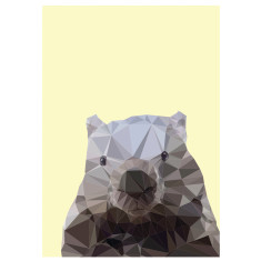 Geometric wombat art print