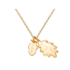 Grandmother's personalised acorn necklace