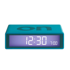 Flip Alarm Clock in Green-Blue