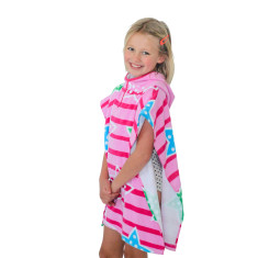 Kids' stars & stripes towel poncho