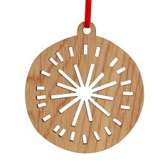 Wooden Christmas bauble decoration