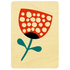 Spotted flower wooden card