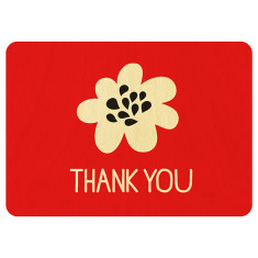 Thank you wooden postcard