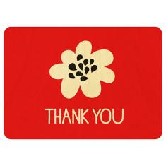 Thank you wooden postcard