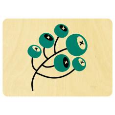 Gumnuts wooden card