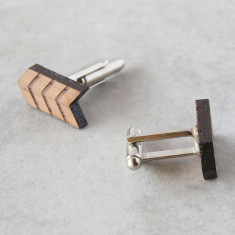 Arrow solid timber cufflinks