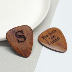 Personalised wooden letter plectrum