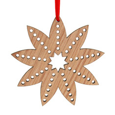 Wooden Christmas flower decoration