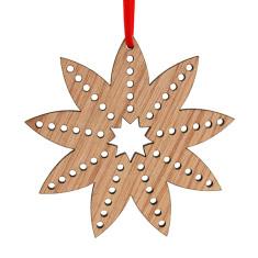 Wooden Christmas flower decoration