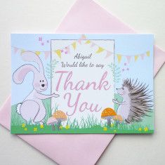 Woodland thank you cards (set of 10)
