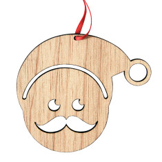 Wooden Santa decoration