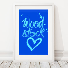 Large woodstock love limited edition art print