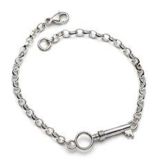 Woodwick silver key bracelet