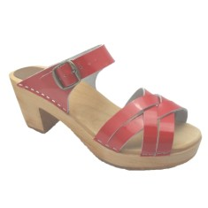 Sandal Red Patent High