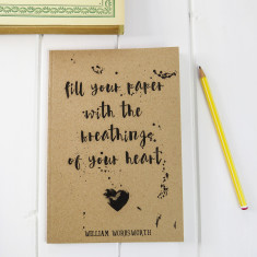 Wordsworth quote A5 notebook