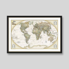World explorer map by National Geographic wall map print